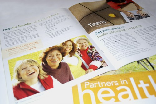 Kaiser Permanente brochure design