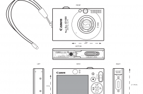 Student Work: Canon Camera Orthographic Drawing
